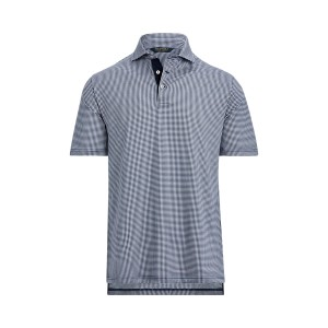 Classic Fit Plaid Jersey Polo
