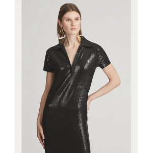 Sequin-Embellished Polo Gown