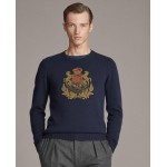 Bullion-Patch Cashmere Sweater