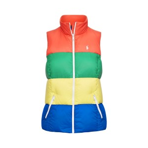 Color-Blocked Down Vest