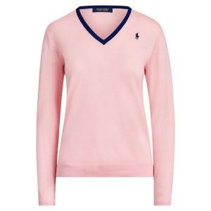 Wool V-Neck Golf Sweater