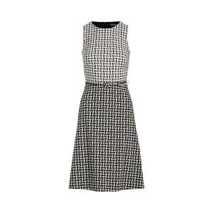 Two-Tone Jacquard Dress