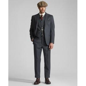 Slim Wool Flannel Suit Trouser