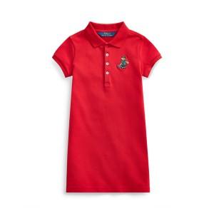 Tartan Bear Mesh Polo Dress