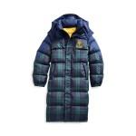 Tartan Down Hooded Coat