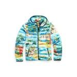 Hawaiian-Print Down Jacket