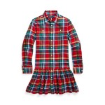 Plaid Cotton Shirtdress