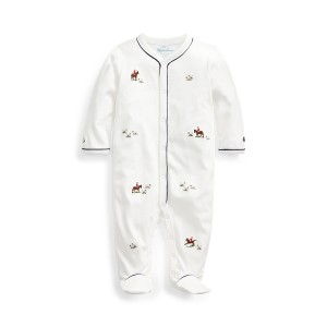 Embroidered Cotton Coverall