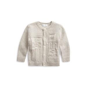 Contrast-Knit Cotton Cardigan