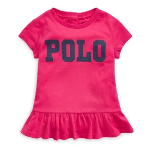 Polo Cotton Jersey Peplum Tee