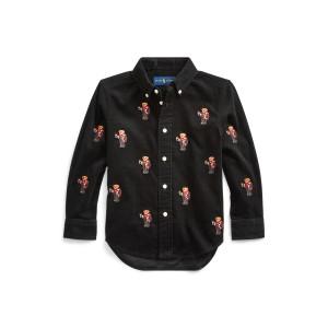 Slim Cocoa Bear Corduroy Shirt
