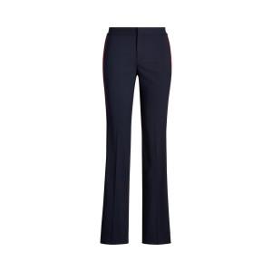 Side-Stripe Wool-Blend Pant