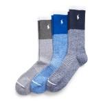 Color-Blocked Crew Sock 3-Pack