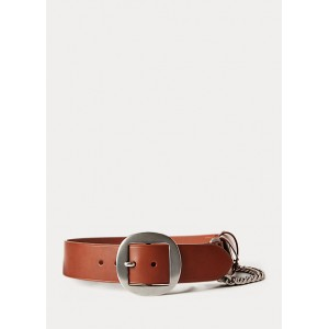 Pouch-Chain Leather Belt