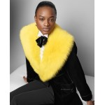 Cyrene Shearling-Velvet Coat
