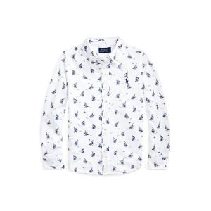 Sailboat-Print Mesh Shirt