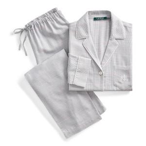 Plaid Cotton-Blend Sleep Set