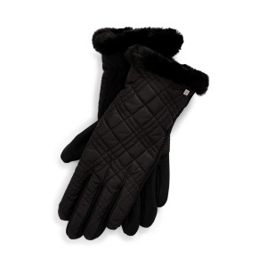 Fleece-Lined Quilted Gloves
