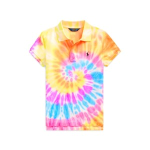 Tie-Dyed Mesh Polo Shirt