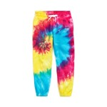 Tie-Dyed Cotton Terry Pant