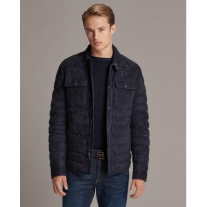 Leeson Suede Down Jacket