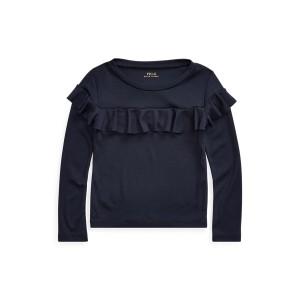 Ruffled Cotton-Blend Top