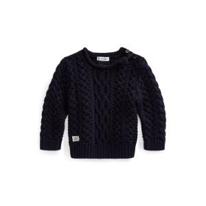 Aran-Knit Cotton Sweater