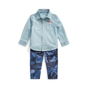 Chambray Shirt  Camo Pant Set