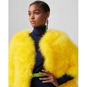 Adalyn Marabou-Feather Coat