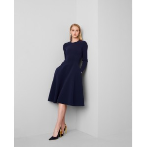 Viola Double-Faced Cady Dress