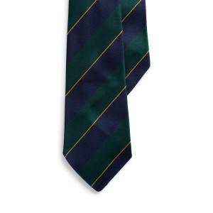 Regimental-Stripe Silk Tie