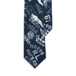 Wool Graphic Narrow Tie