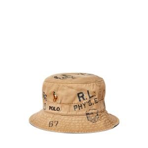 Athletic-Print Bucket Hat