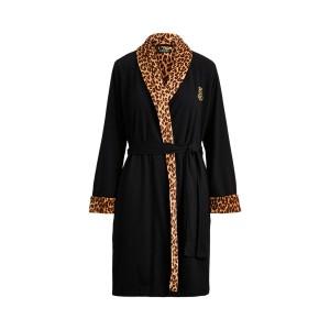 Velour Shawl-Collar Robe