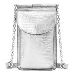 Lizard-Print Leather Phone Bag
