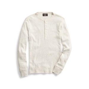 Waffle-Knit Henley Shirt
