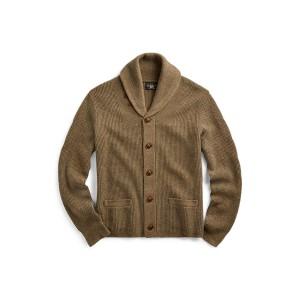 Waffle-Knit Cashmere Cardigan