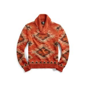 Linen-Blend Shawl Sweater