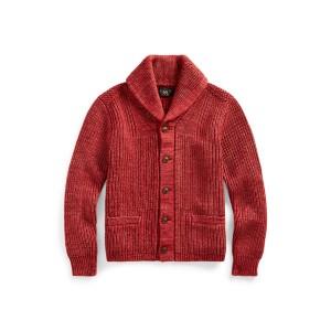 Cotton-Blend Shawl Cardigan