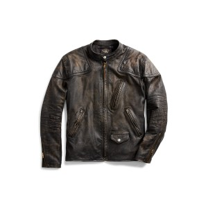 Slim Fit Leather Moto Jacket
