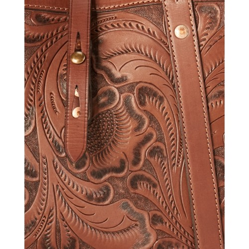 폴로 Hand-Tooled Leather Tote