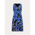 Print Tie-Waist Midi Dress