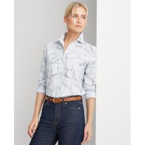 Easy Care Print Cotton Shirt