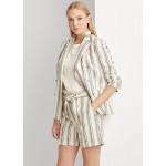 Striped Linen Twill Blazer