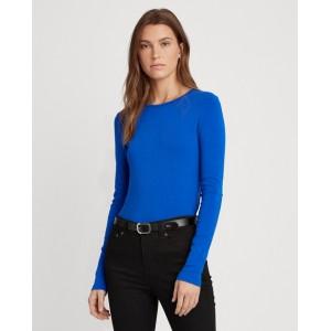Cotton-Blend Long-Sleeve Top