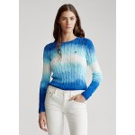Tie-Dye Cable Cotton Sweater