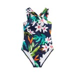 Tropical High-Neck One-Piece