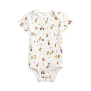 Bear-Print Cotton Bodysuit