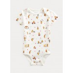 Bear-Print Cotton Bodysuit