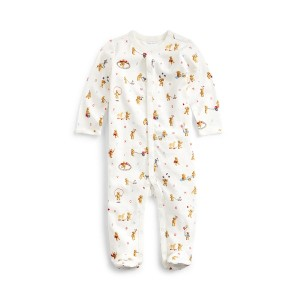 Bear-Print Cotton Coverall
